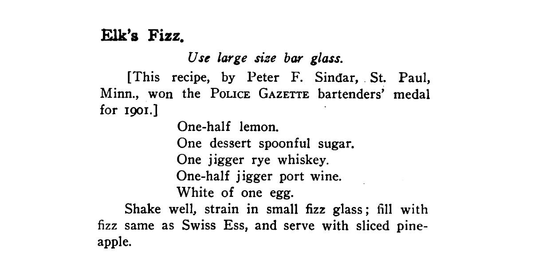 Rezept Elk's Fizz