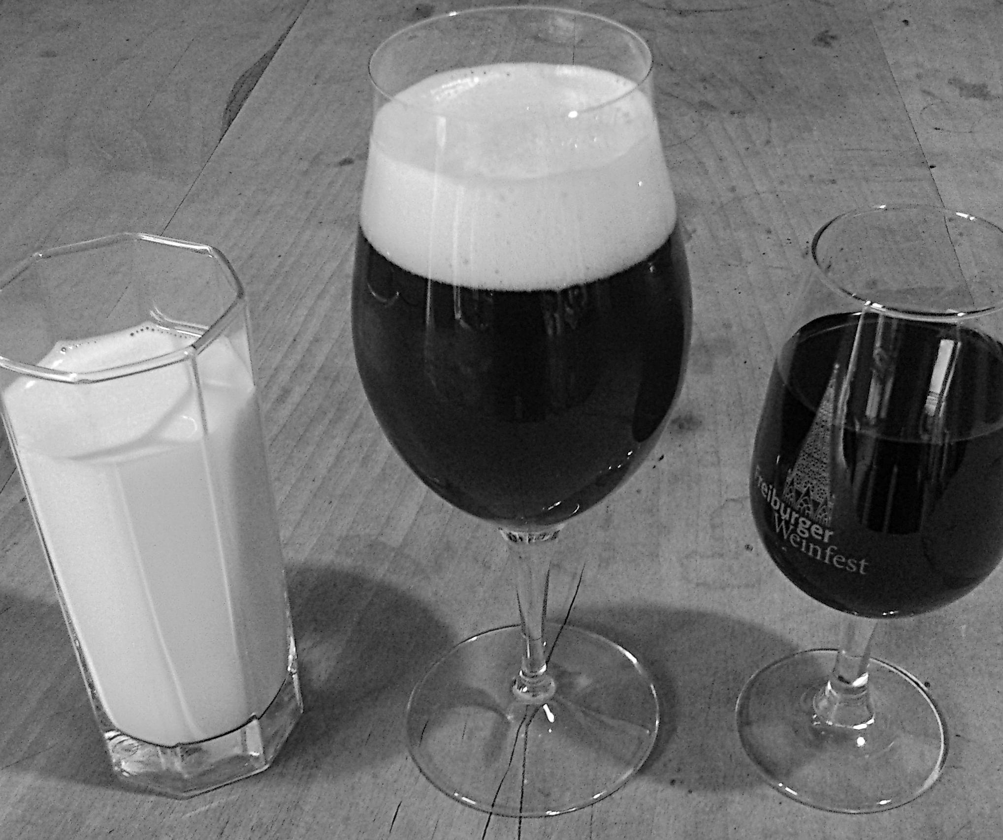 Gut Trinken: Milch, (Malz-)Bier & Wein